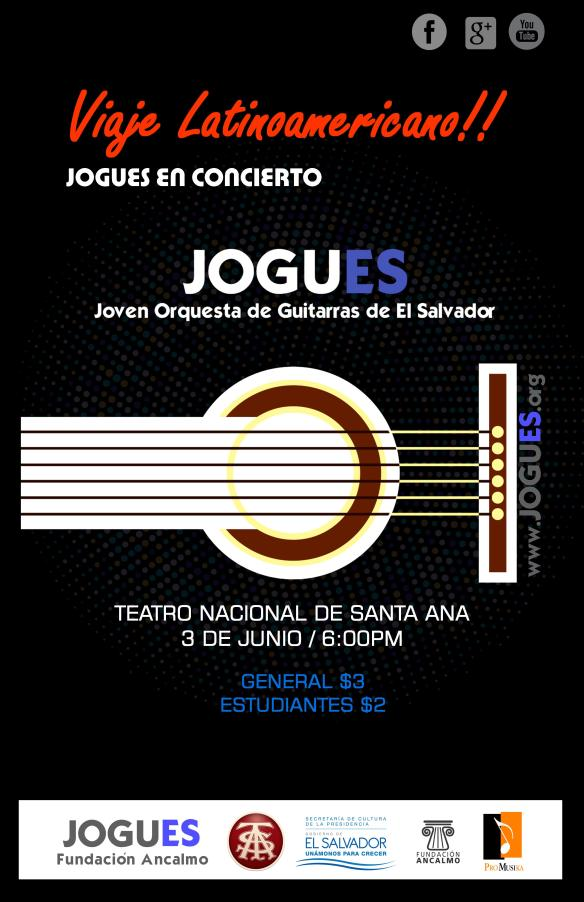 Afiche Concierto Santa Ana